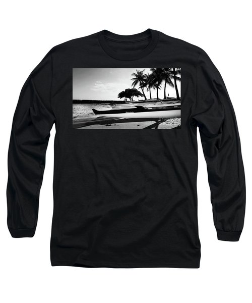 Long Sleeve T-Shirt featuring the photograph Canoes by Kristine Merc