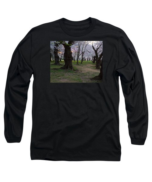 Canopy Of Pink 8x10 Long Sleeve T-Shirt