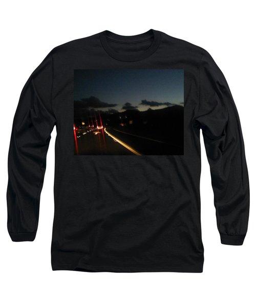 Canyon Road Winter Long Sleeve T-Shirt by Dan Twyman