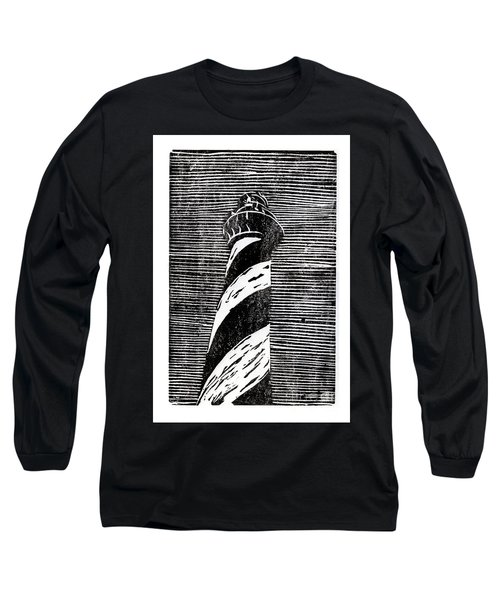 Long Sleeve T-Shirt featuring the painting Cape Hatteras Lighthouse II by Ryan Fox