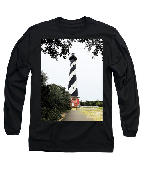 Cape Hatteras Lighthouse Long Sleeve T-Shirt by Shelia Kempf