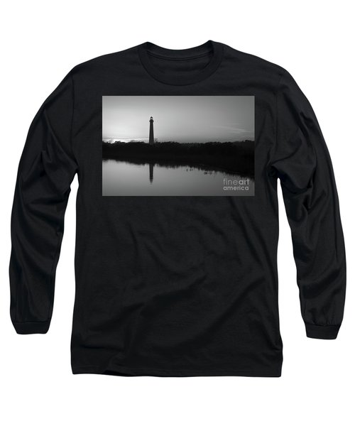 Cape May Black And White Silhouette Long Sleeve T-Shirt