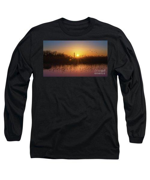 Cape May Light Panorama  Long Sleeve T-Shirt