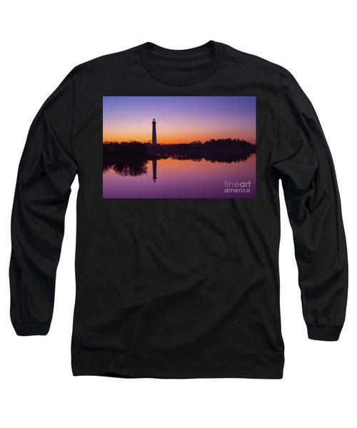 Cape May Lighthouse At Blue Hour  Long Sleeve T-Shirt