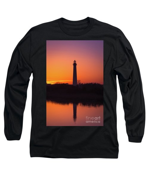 Cape May Lighthouse Reflections Long Sleeve T-Shirt