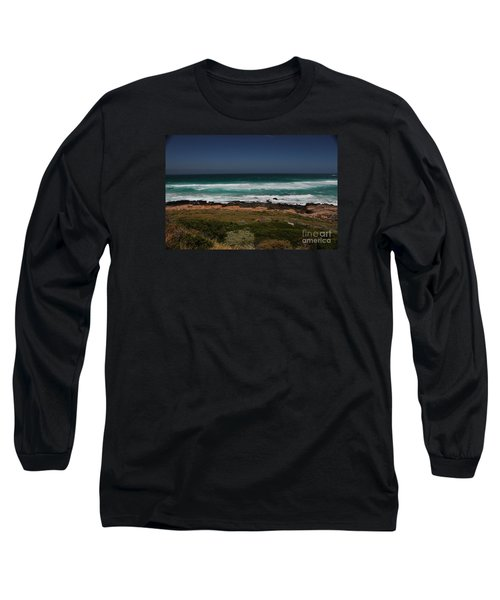 Capetown Penisula Beach Long Sleeve T-Shirt by Bev Conover