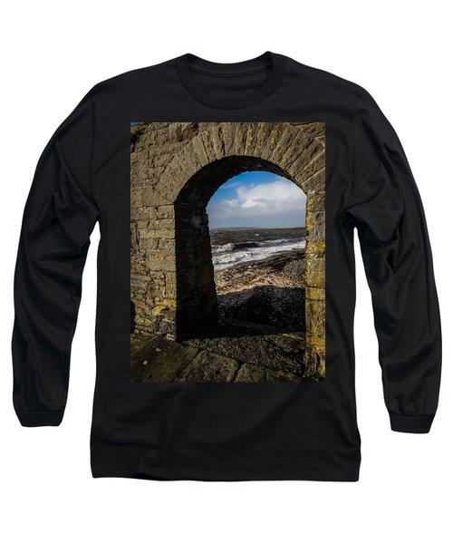 Cappagh Pier And Ireland's Shannon Estuary Long Sleeve T-Shirt