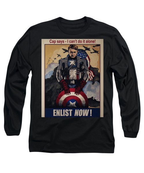 Captain America Recruiting Poster Long Sleeve T-Shirt