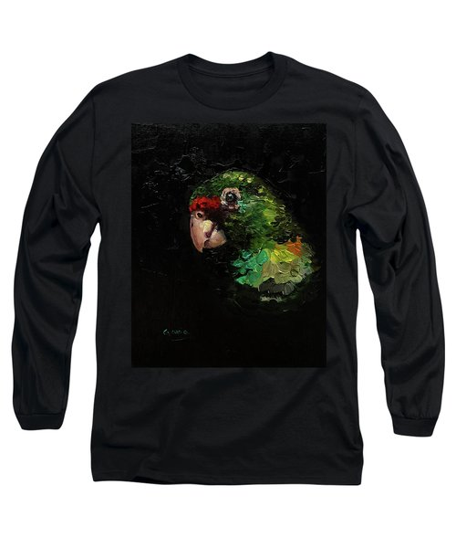 Captain The Parrot Long Sleeve T-Shirt by Janet Garcia