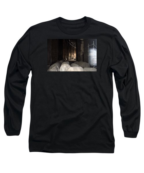 Captured Ghost At Colosseum Rome Long Sleeve T-Shirt