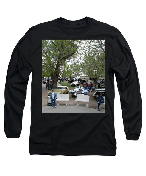 Long Sleeve T-Shirt featuring the photograph Car Show In Deming N M by Jack Pumphrey