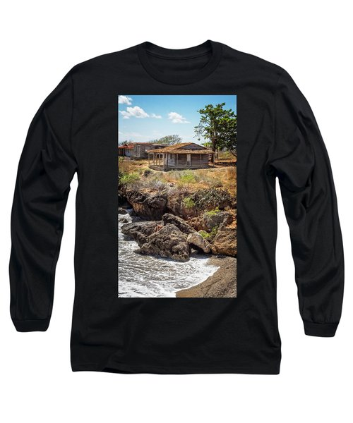 Long Sleeve T-Shirt featuring the photograph Caribbean Coastline Cuba by Joan Carroll