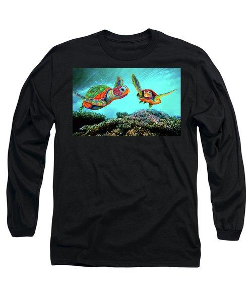 Caribbean Sea Turtles Long Sleeve T-Shirt