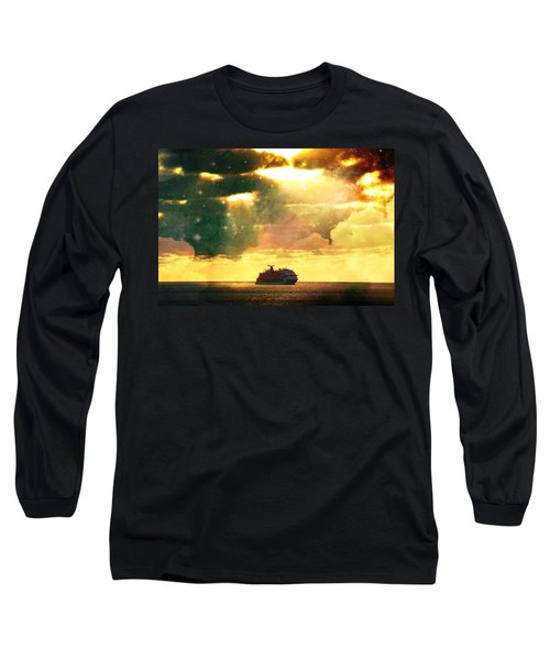 Caribbean Sunset Cloud Art Long Sleeve T-Shirt