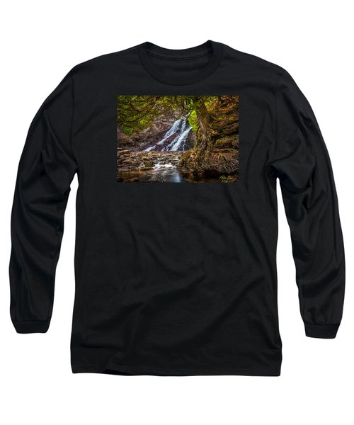 Long Sleeve T-Shirt featuring the photograph Caribou Falls In Fall by Rikk Flohr