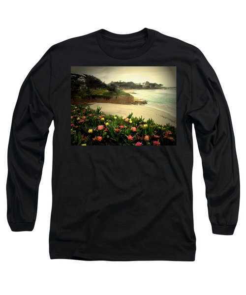 Carmel Beach And Iceplant Long Sleeve T-Shirt