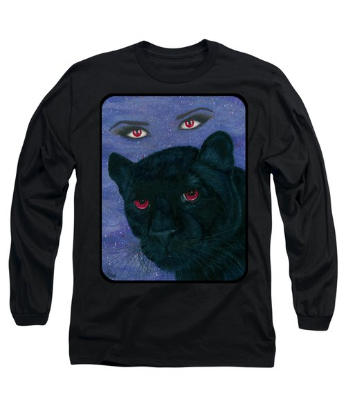 Carmilla - Black Panther Vampire Long Sleeve T-Shirt by Carrie Hawks