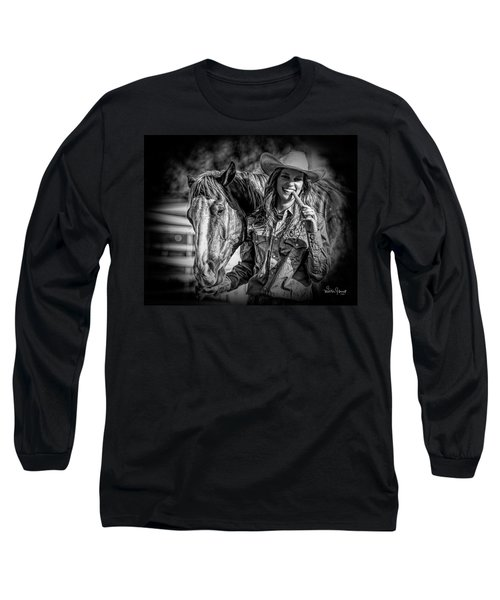 Carrots Cowgirls And Horses  Black Long Sleeve T-Shirt