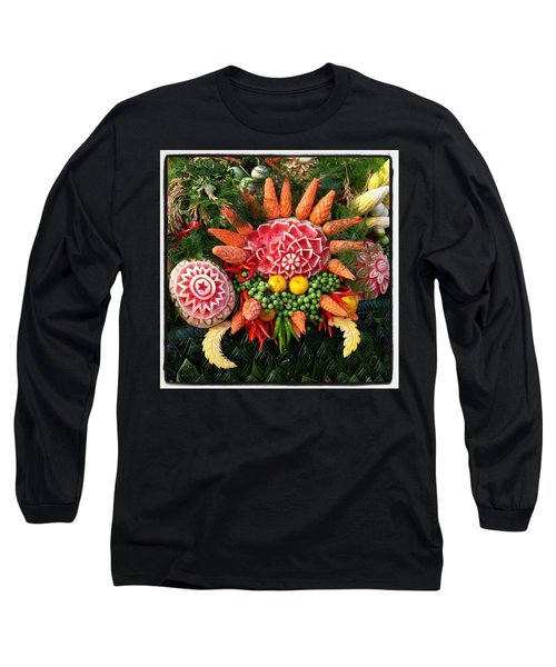 Long Sleeve T-Shirt featuring the photograph Carved Watermelon, And I Think Those by Mr Photojimsf