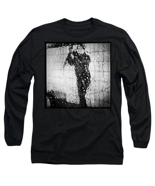 Carwash Cool Black And White Abstract Long Sleeve T-Shirt by Matthias Hauser
