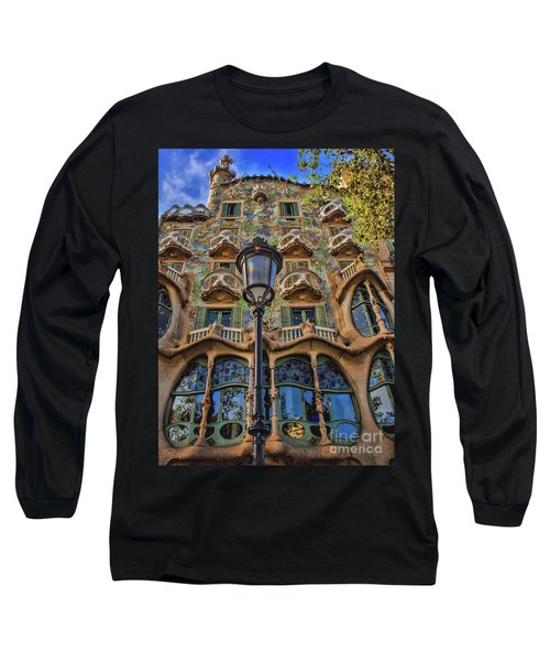 Long Sleeve T-Shirt featuring the photograph Casa Batllo Gaudi by Henry Kowalski