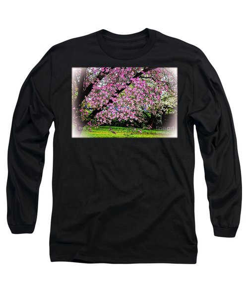 Cascading Dogwood Copyright Mary Lee Parker 17, Long Sleeve T-Shirt by MaryLee Parker
