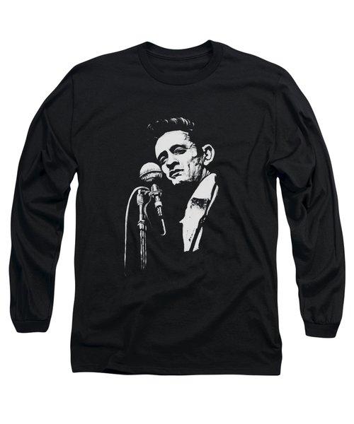 Cash T Shirt Print Long Sleeve T-Shirt by Melissa O'Brien