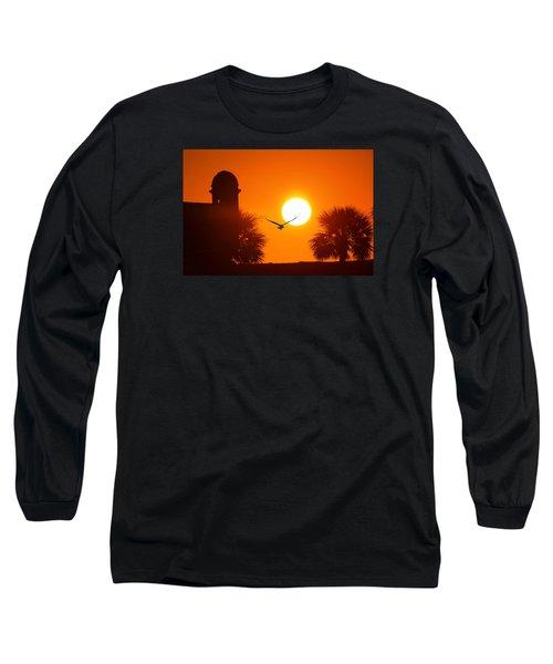 Castillio De San Marcos Long Sleeve T-Shirt by Robert Och