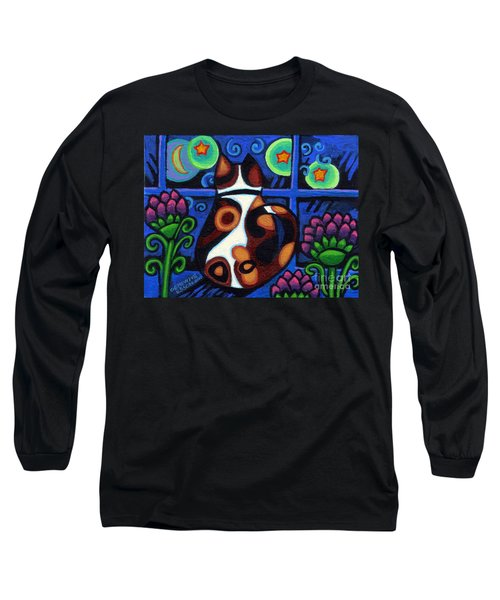 Cat At Window Long Sleeve T-Shirt