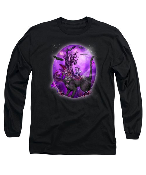 Cat In Goth Witch Hat Long Sleeve T-Shirt