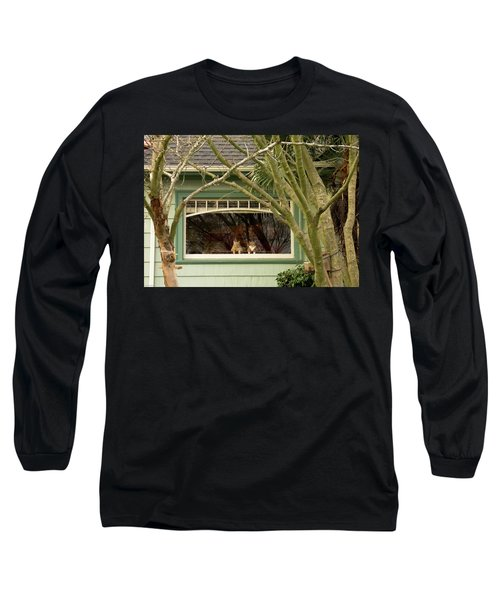 Cat Pals Waiting Long Sleeve T-Shirt