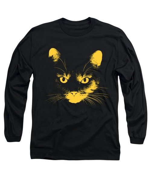 Cat Stare With Transparent Background Long Sleeve T-Shirt