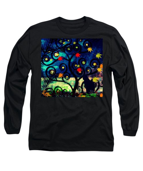 Cat Watch  Long Sleeve T-Shirt by Kim Prowse