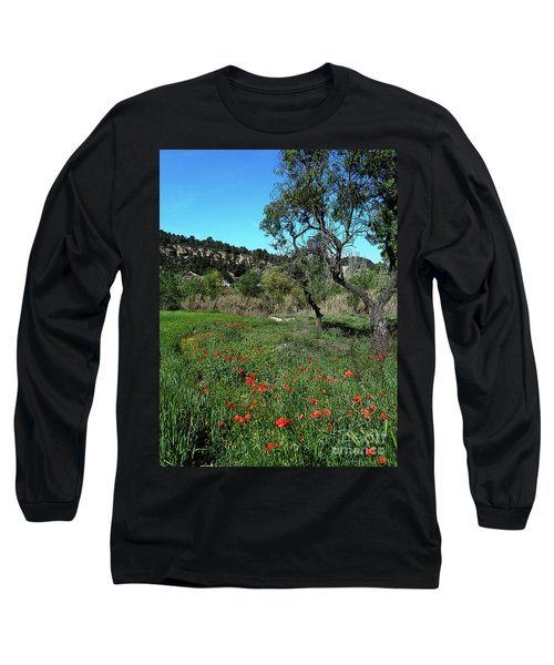 Catalan Countryside In Spring Long Sleeve T-Shirt
