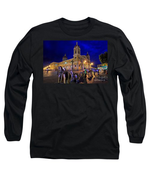 Cathedral Of Granada Shines Brightly Long Sleeve T-Shirt