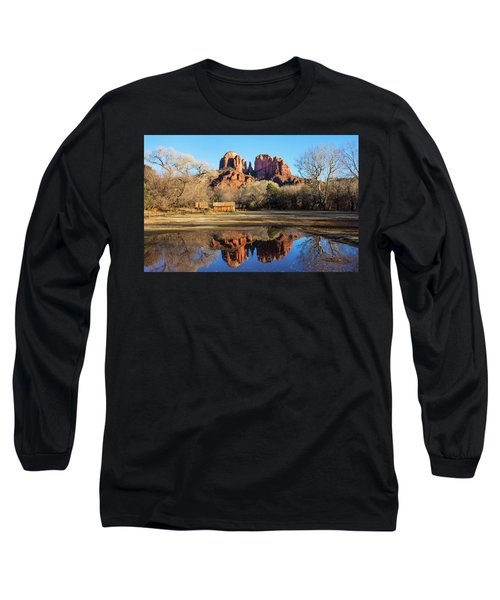 Long Sleeve T-Shirt featuring the photograph Cathedral Rock, Sedona by Barbara Manis