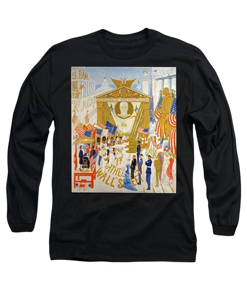 Long Sleeve T-Shirt featuring the photograph The Cathedrals Of Wall Street - History Repeats Itself by John Stephens