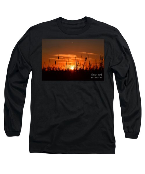 Cattails And Twilight Long Sleeve T-Shirt