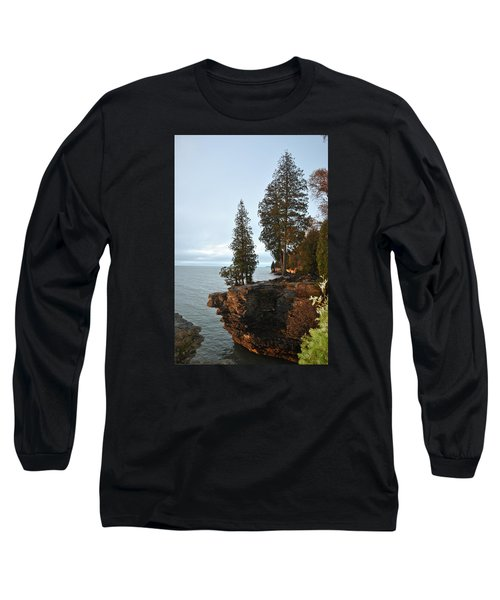 Cave Point Long Sleeve T-Shirt by Linda Goad