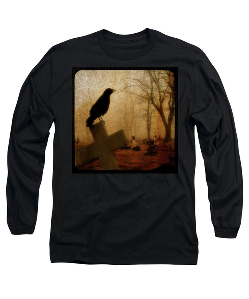Cawing Night Crow Long Sleeve T-Shirt