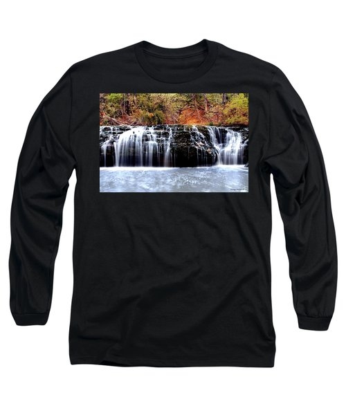 Cedar Creek Falls, Kansas Long Sleeve T-Shirt