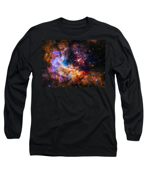 Celestial Fireworks Long Sleeve T-Shirt by Marco Oliveira