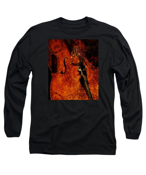 Long Sleeve T-Shirt featuring the photograph Cellos At Midnight by Michele Cornelius