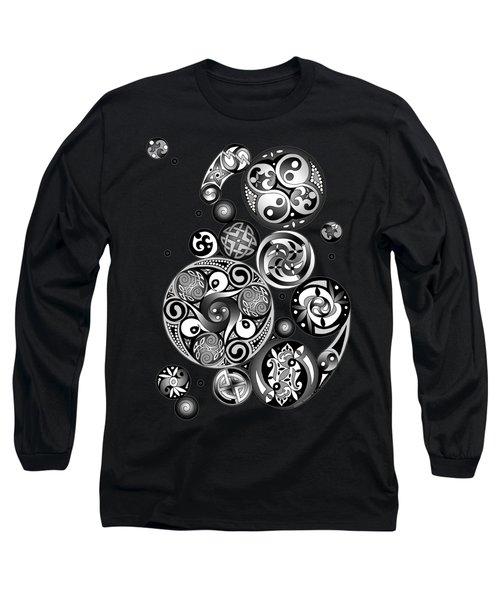 Long Sleeve T-Shirt featuring the mixed media Celtic Clockwork by Kristen Fox