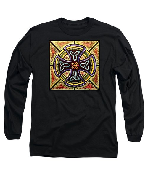 Long Sleeve T-Shirt featuring the painting Celtic Cross 2 by Jim Harris