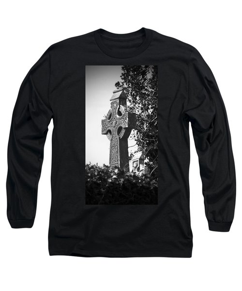 Celtic Cross At Fuerty Cemetery Roscommon Ireland Long Sleeve T-Shirt