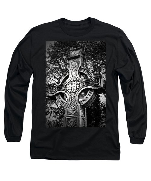 Celtic Cross Detail Killarney Ireland Long Sleeve T-Shirt