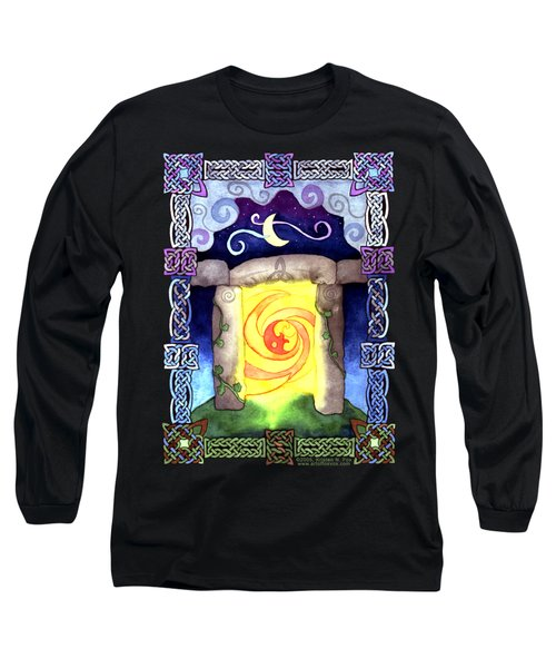 Long Sleeve T-Shirt featuring the painting Celtic Doorway by Kristen Fox
