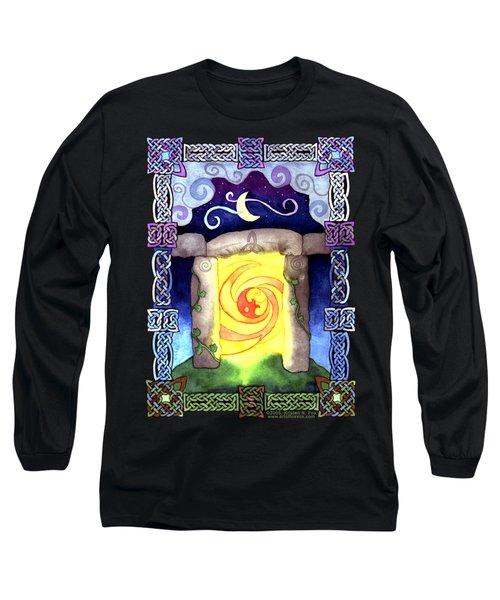 Celtic Doorway Long Sleeve T-Shirt by Kristen Fox