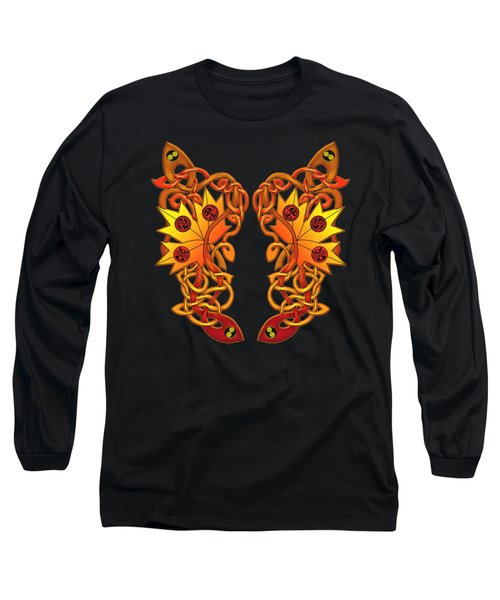 Celtic Loose Leaves Long Sleeve T-Shirt